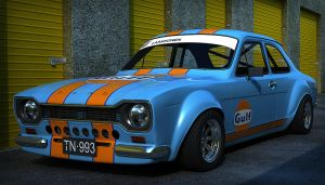 Ford Escort Mk1 Gulf Outside by Astros