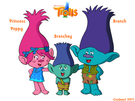 Trolls - Poppy and her family in SE style by Csodaaut
