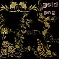 gold pngs by roula33