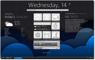 cloudy with a chance of rainmeter by ryan1mcq