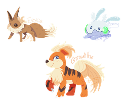 Binary: Eevee, Goomy, Growlithe