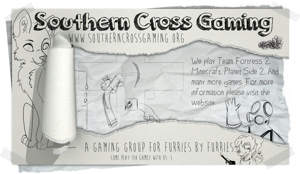 Southern Cross Gaming - Sketchy Poster. by zeaig