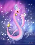 Dragonair and Dratini by Rose-Beuty