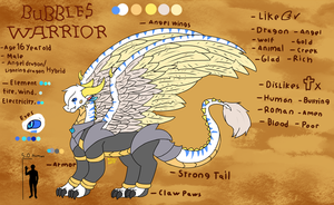 Bubbles Warrior (Updated Reference) by FanDragonBrigitha