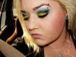 Lime green and blue by MakeupbyRMF
