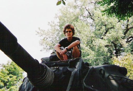 Me on a tank by ShadowCorpse