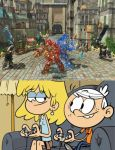 Lori and Lincoln playing Knack 2 by magmon47