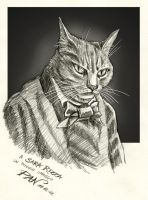 Baudelaire's Cat by Panaiotis