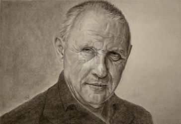 Anthony Hopkins. Pencil on paper A3 by krzys177