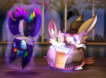 (Collab) Helping in Learning Magic by PoppyWolfMoon