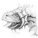 Draconic Hound Head by michel1977