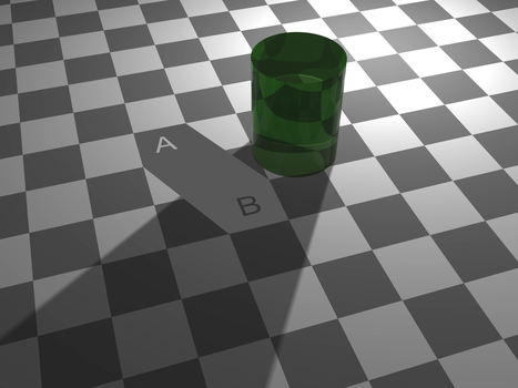 Checker shadow illusion Proof by butisit