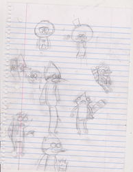 Doodles-Regular show- by lovify1234