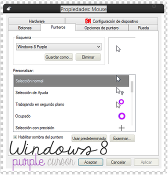Windows 8 Purple Cursor by AleColorfulEditions