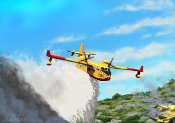 Canadair CL-415 Water Bomber by Sincress