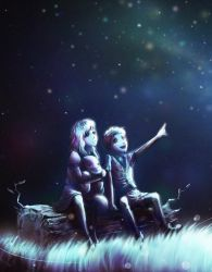To the Moon_River and Johnny by Ioruko