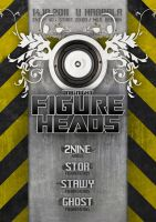 FIGUREHEADS party flyer by 2NiNe