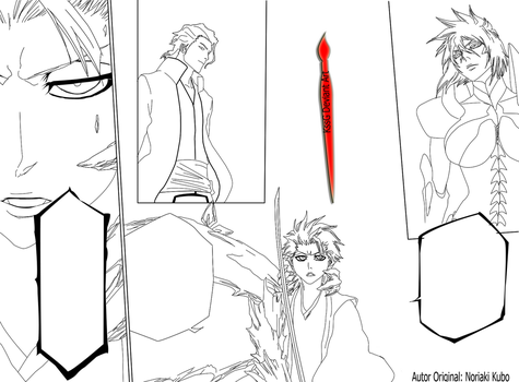Hitsugaya  Halibel and Aizen by KssG