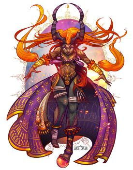 Summon Design: Ifrit by Flying-Fox