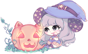 a very pastel halloween by mauururu