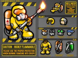 Flamethrower Guy by aphaits