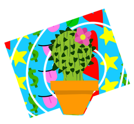 Lucky cactus by Pinkgoldenrulerofall