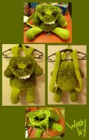 Green Monster Backpack by Merlend