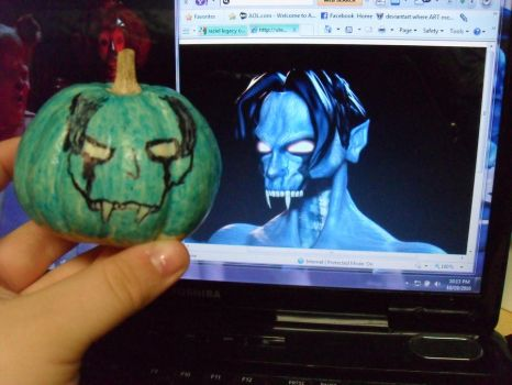 Raziel mini-pumpkin by WibSkelDS9