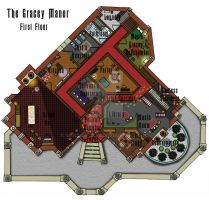 Haunted Mansion First Floor Plan by shadowdion