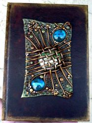 Blank journal with netted gem by MandarinMoon