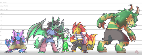 Commission - Demon Lineup by raizy