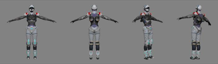 Final Polypainted character turnaround by koukisan