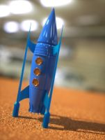 Retro rocket toy by davidbrinnen