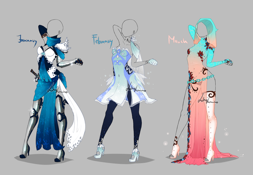 Outfit design - Months - 1 - closed by LotusLumino