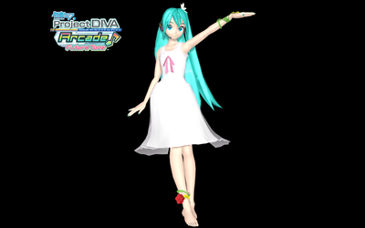 PDAFT White One Piece Miku by WeFede