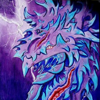 The Storm Dragon by InsaneAngelArt