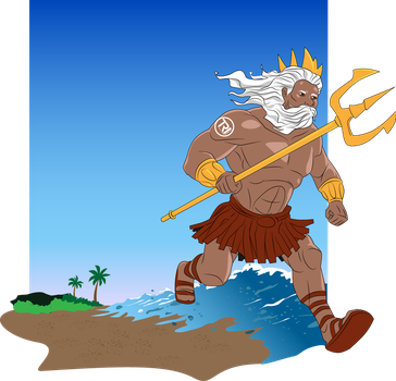 King Triton Illustration by gusmedi