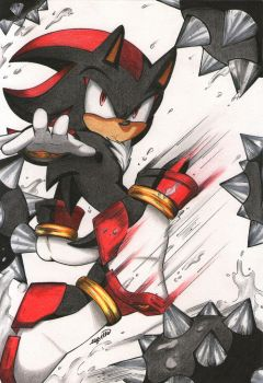 Shadow The Hedgehog by esbelle