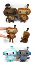 Steampunk Robot Plushies by SewDesuNe