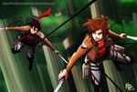 SnK AU: Randy Cunningham and Dipper Pines by witch-girl-pilar