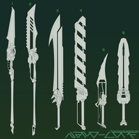 Lineart Weapon Adopts 7 (3/6 open) by Nano-Core