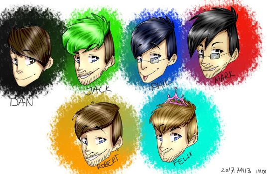 Youtubers! by ArtistBlood13