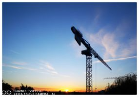 Sunrise construction by bulgphoto