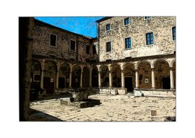 Monastere franciscain color by StephanWhite