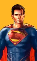 Henry Cavill, Man Of Steel, Superman illustration. by le0arts