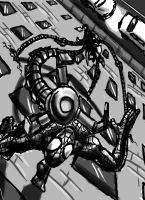 spidey vs. doctor octopus by infamously-dorky