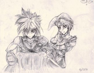 Cloud and Link:D by SomeMonsterFangirl