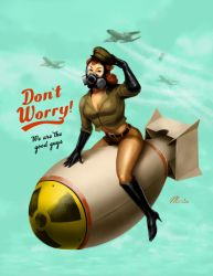 Pinups of the Apocalypse #2 - War by maristane