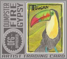 Toucan ATC - ACEO-change - June Swap - kailavmp by dumpsterfiregypsy