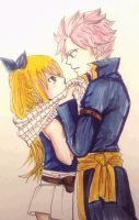 fairy tail : Lucy and Natsu (Nalu) by BakaAden